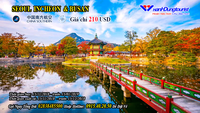 vemaybay SEOUL INCHEON & BUSAN